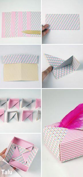 Origami Schachteln Aus Papier Falten Die Perfekte