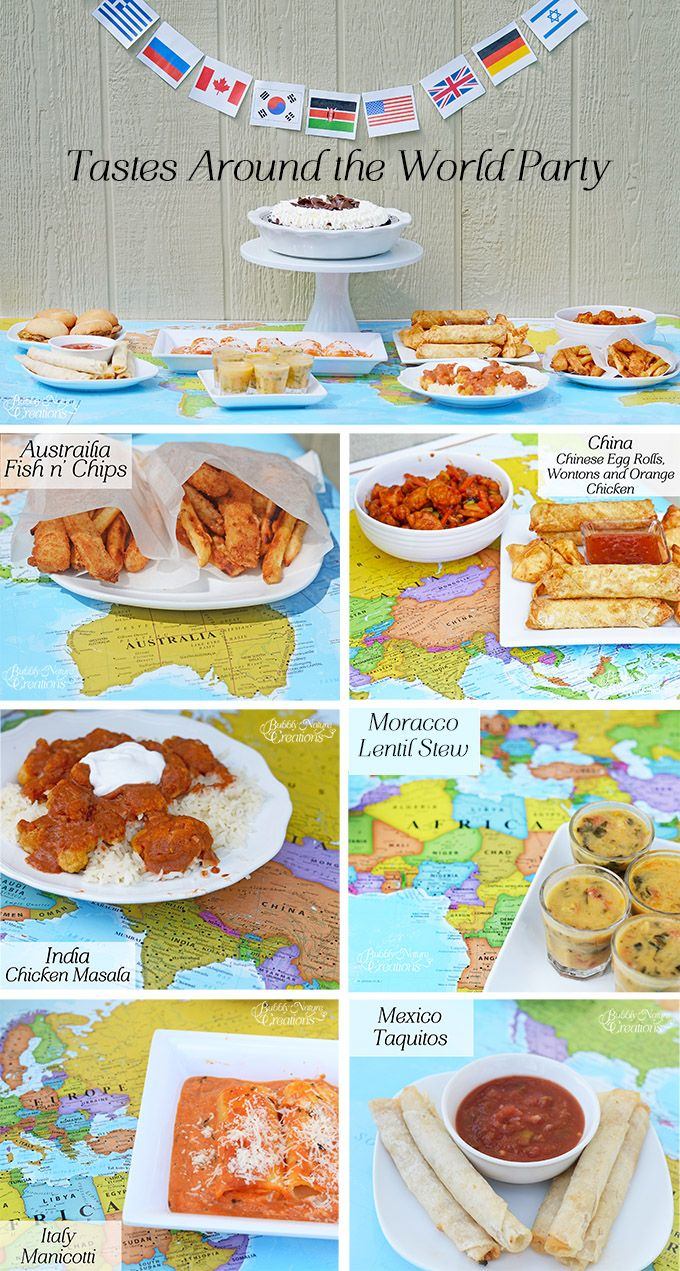 Beautiful Around The World Dinner Party Ideas Part - 8: Back To School Party Idea: A Dinner Featuring Dishes And Snacks From Around  The World