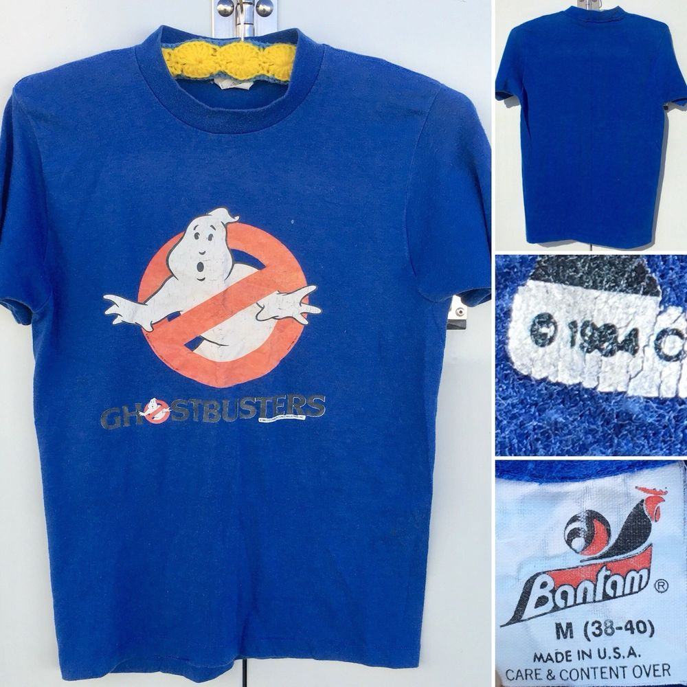 fe976c65811 Vintage Ghostbusters T-Shirt c 1984 Columbia Pictures M Bantam USA 80s  1980s | eBay