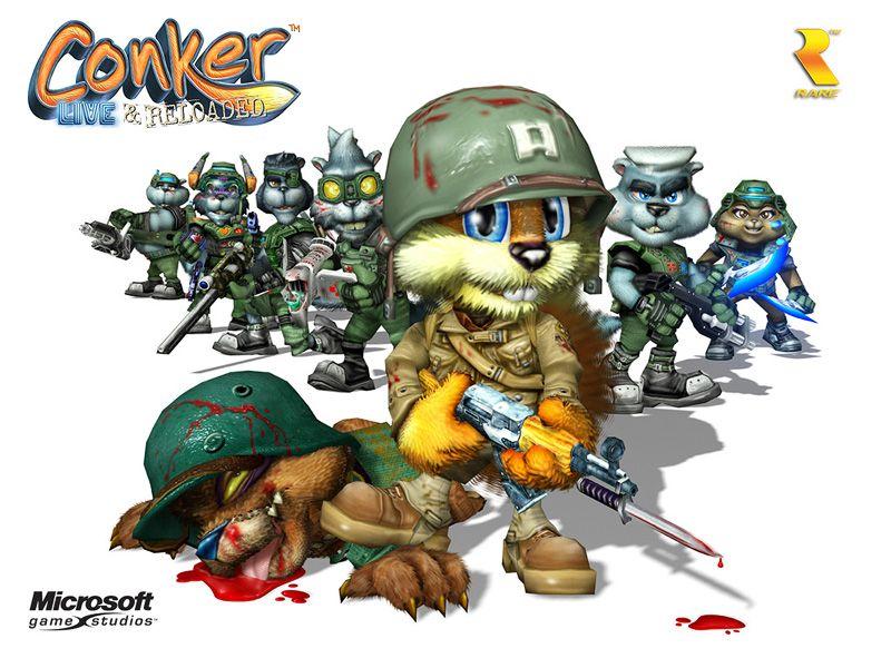 Conker Live And Reloaded Character Wallpaper Squirrels Arte De Videojuegos Arte Psicodelico Fondo De Anime