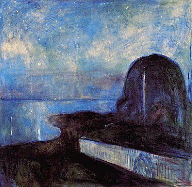 "White Night"" Edvard Munch. -"