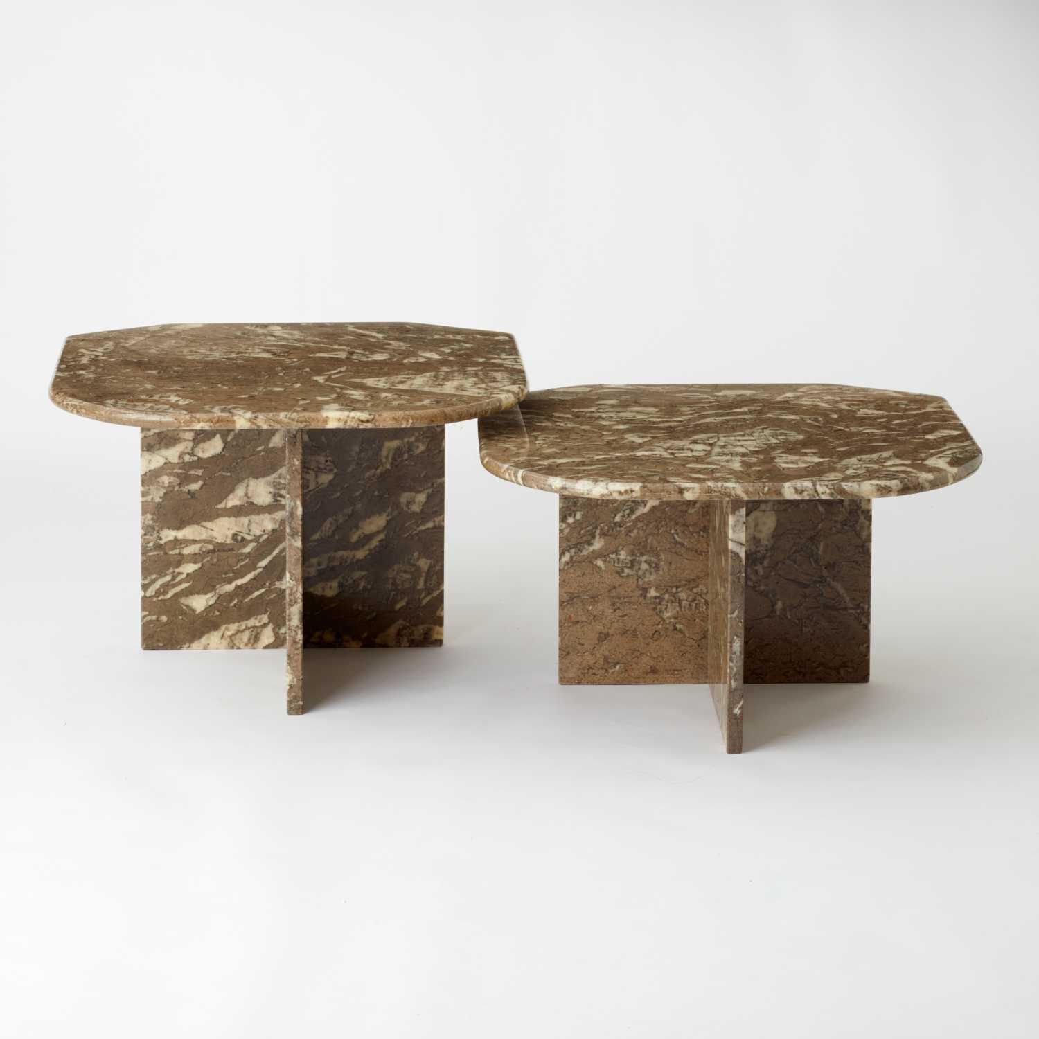 Set Of Two Vintage Olive And Cream Coloured Retro Shaped Italian Marble Side Tables Au Bespoke Marble Side Tables Italian Marble Vintage Table [ 1500 x 1500 Pixel ]