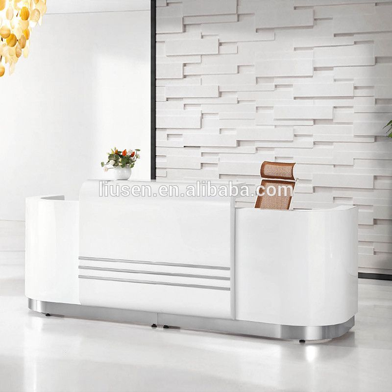 Popular Elegant Design Beauty Salon Furniture Reception Desk White Front  Desk Counter   Buy Front Desk Counter White Front Desk Counter Beauty Salon. Popular Elegant Design Beauty Salon Furniture Reception Desk White