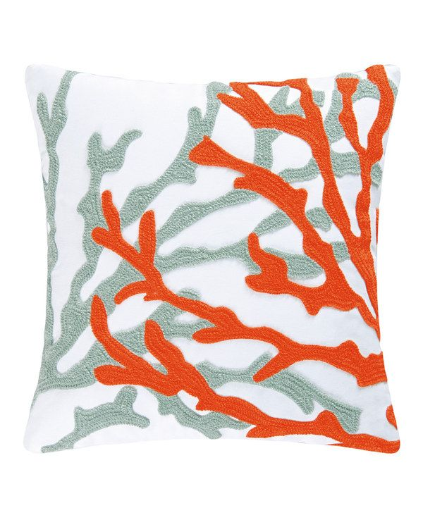 Look at this Dual Coral Rice Stitch Pillow on #zulily today!