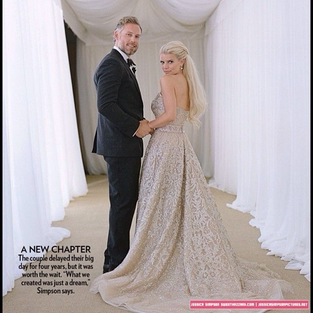 Jessica Simpson Wedding Gown: SweetHazzard.com Photo Gallery // Jessica Simpson Pictures
