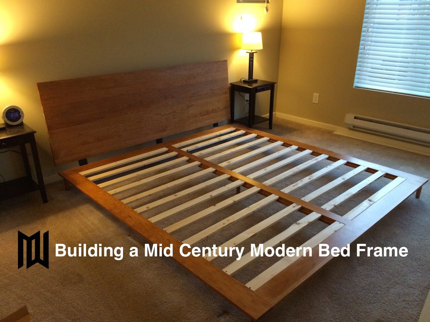 Build A Mid Century Modern Bedframe Youtube Diy King Bed