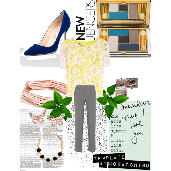 """unpredictable but safe, suede cobalt heels"" by di-ma-rivera on Polyvore"