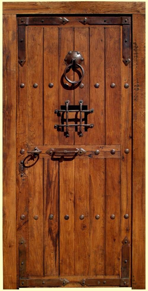 Puertas de madera rusticas buscar con google puertas for Puertas principales de madera rusticas