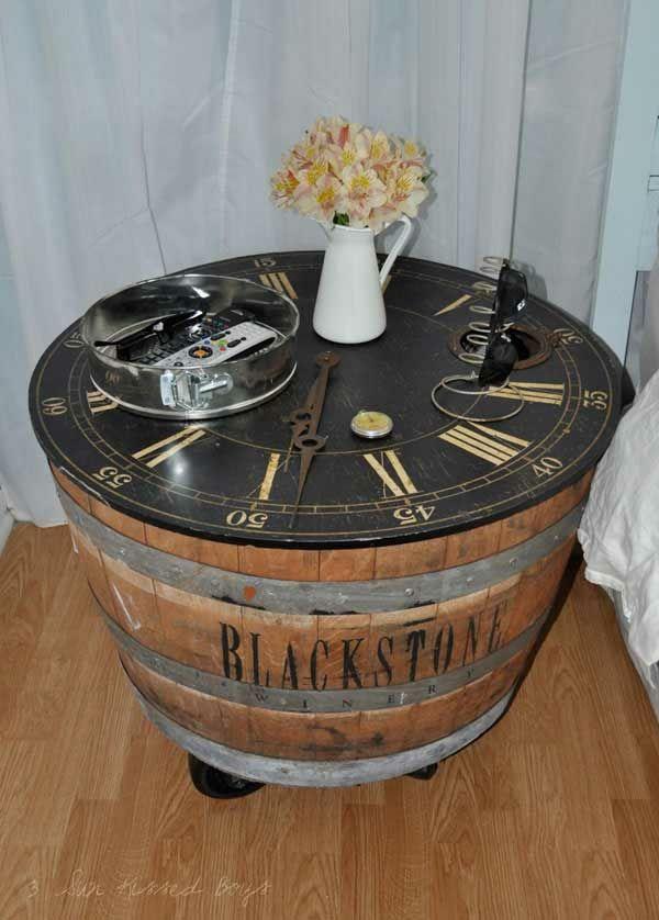 Weinfass stehtisch und viele andere diy m bel aus holzfass gebastelt unbedingt kaufen - Weinfass dekorieren ...
