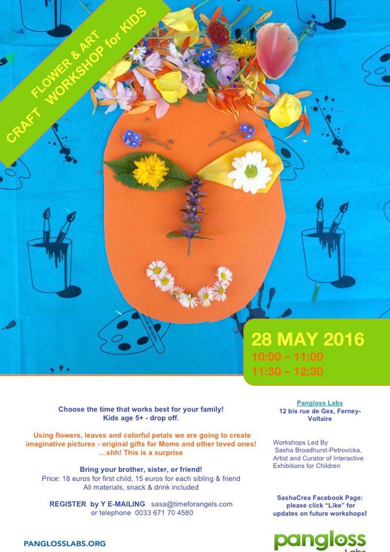 Flower Art Craft Workshop For Kids Ferney Voltaire 28 May 2016