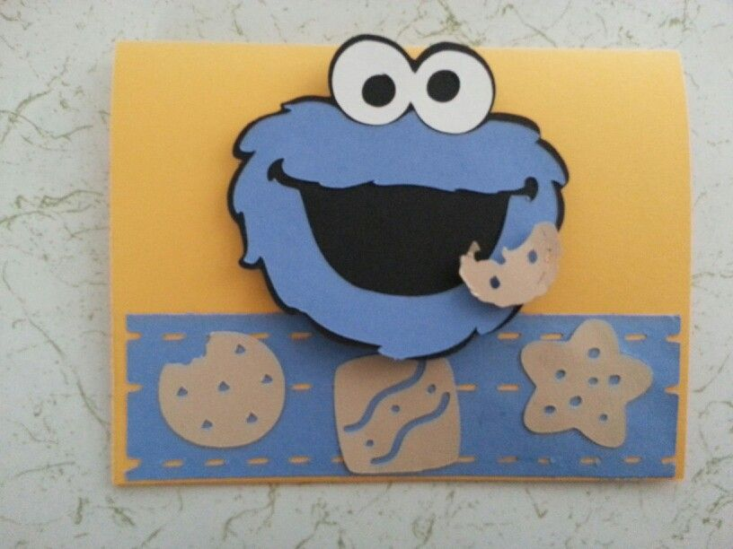 Cookie Monster Birthday Card Made By Me Pinterest