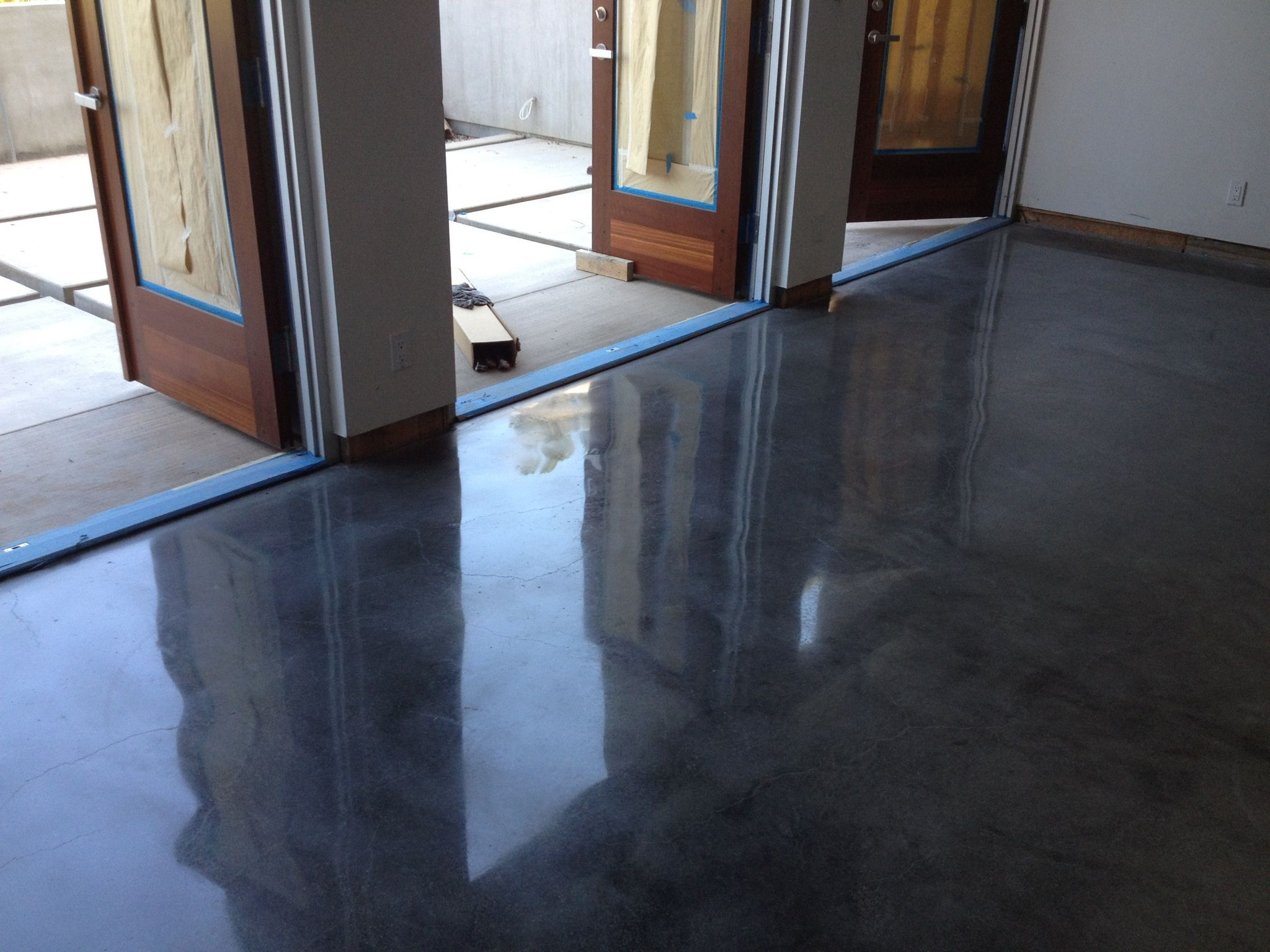 Add color to your concrete to create a marble like effect for Cement paint colors for floors