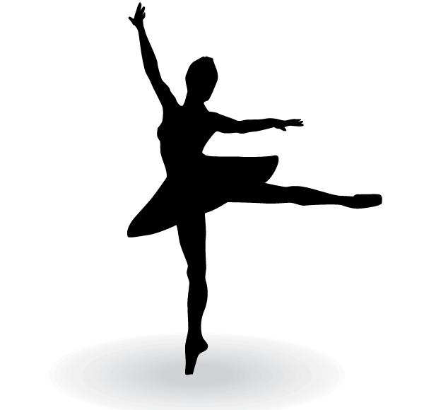 Ballerina Silhouette Vector Clip Art | 123Freevectors ...