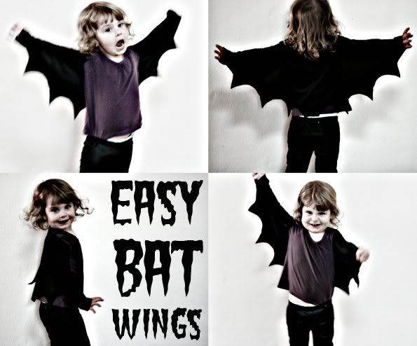 How To: Easy Bat Wings for Halloween.  I want these for myself!