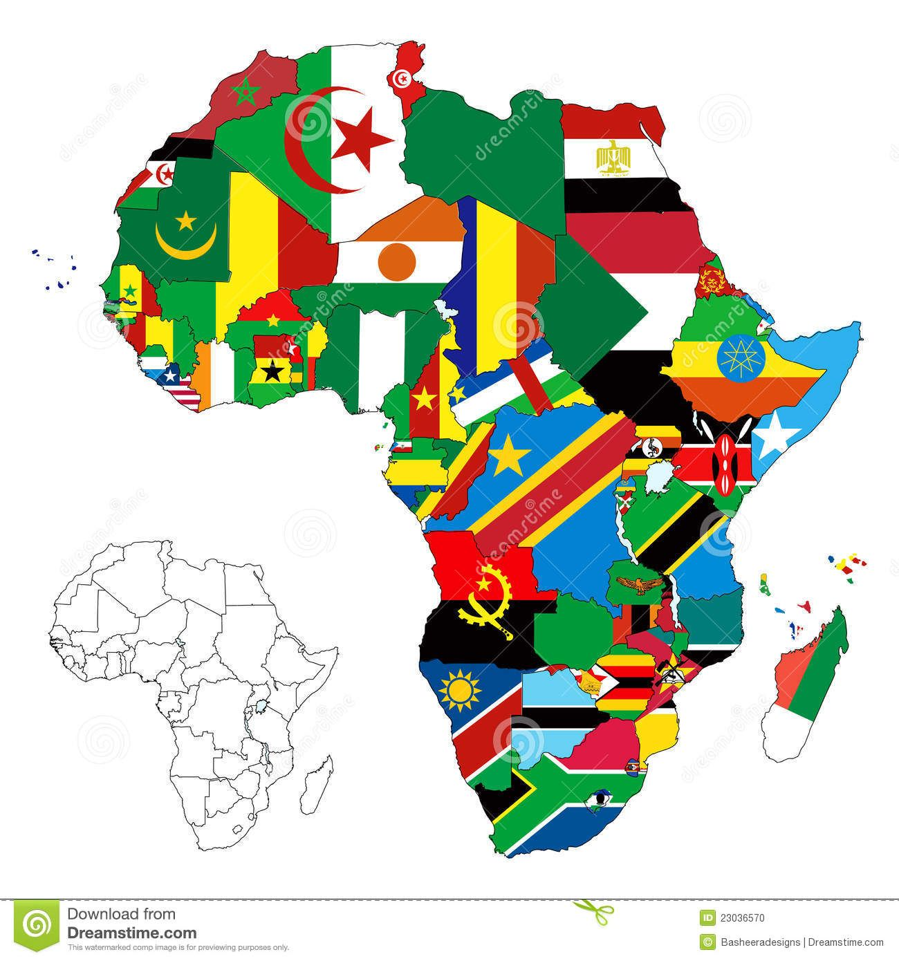 Africa Continent Flag Map Stock Photo Image This Is - African continent map