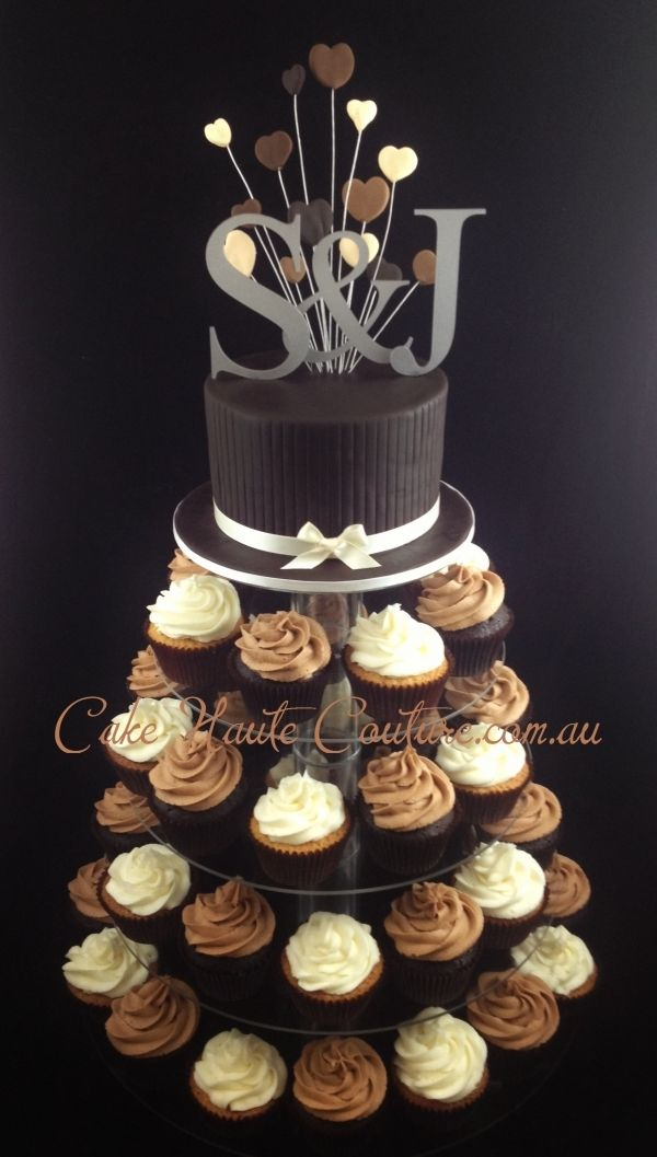Chocolate Cupcake Tower Cupcake Tower Cupcake Tower Wedding Cupcake Arrangements