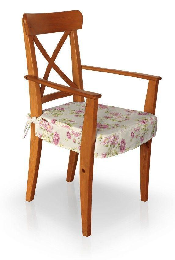 Dekoria De sitzkissen geeignet für das ikea modell ingolf armlehnstuhl creme