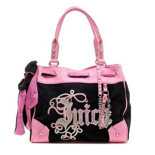 Juicy Couture Daydreamer Pink Black Handbags Click Image To Close