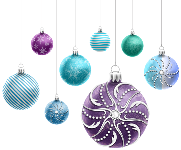 Beautiful Christmas Ornaments PNG Clipart Image | ~ Ornaments ...