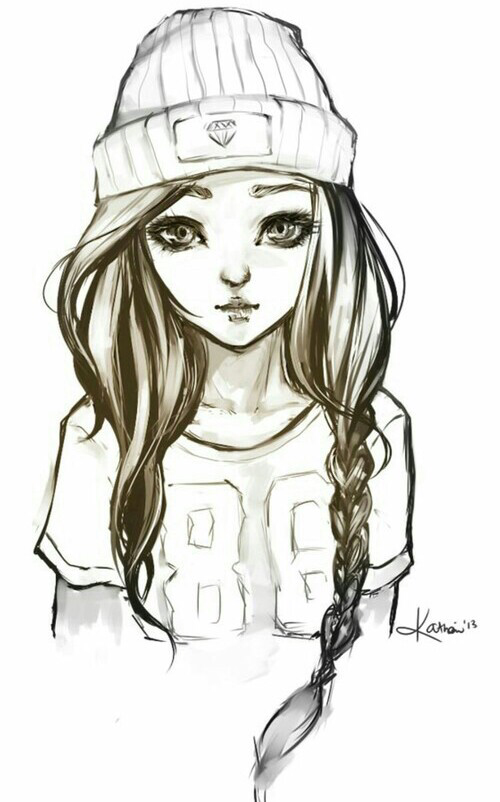 Pin By Destiny Strunk On Drawings Hipster Drawings Hipster Girl
