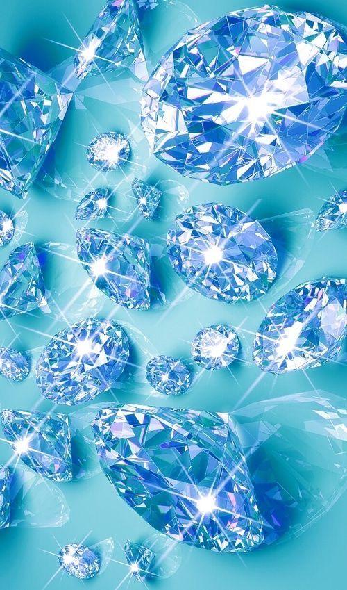 Красивые синие картинки с алмазами