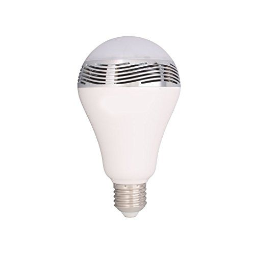 Efanr® Smartphone Controlled Bluetooth 4.0 RGB LED Light Bulb with Built-in Music Speaker - Dimmable Multicolored Color Changing Audio Music Playing LED Lights - Smart LED Light Bulbs Lamp for Office Bar Disco Bedroom KTV Home Decoration Stage Club Party Dinners Romantic Lighting and Gifts - 110 Volts, 6 Watt E27 Base- Energy Efficient Personal Wireless Lighting - Works with Apple iPhone, iPad and Android Phone -With Retail Packaging