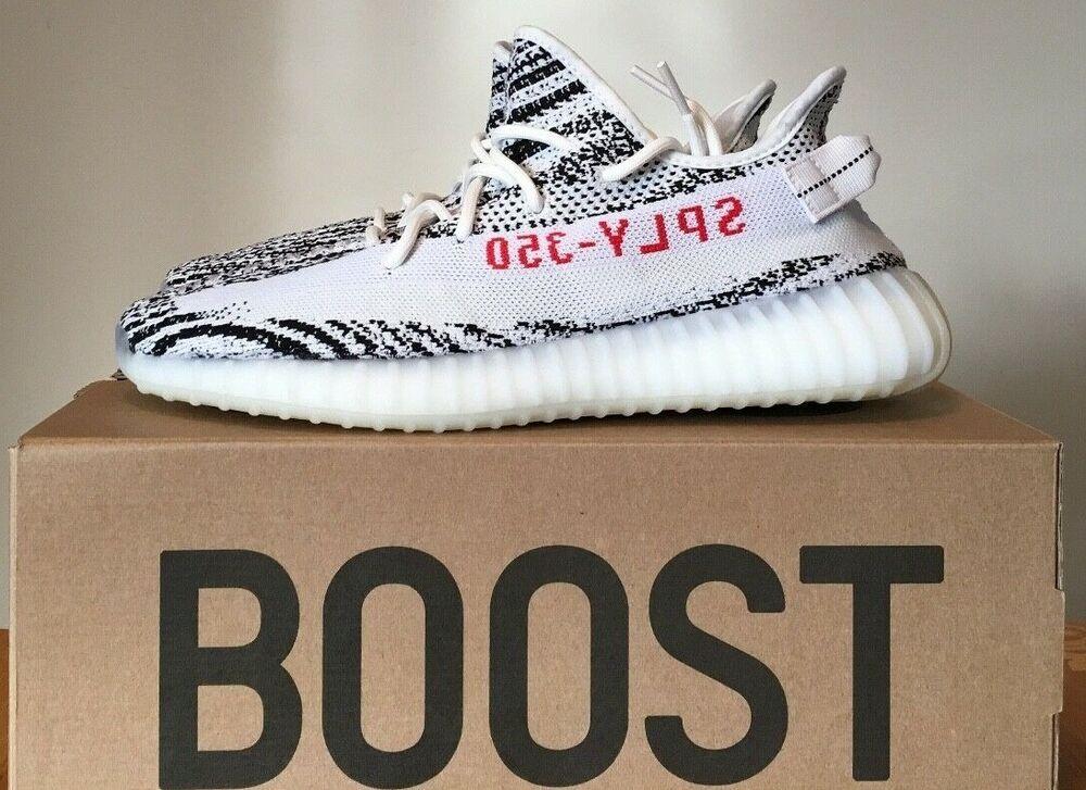 7866be88 New Adidas Yeezy Boost 350 V2 Zebra Size 12 Unworn DS Static Salt Clay 700 #