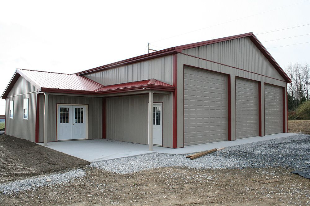 Pole buildings garage kits customer projects for Pole barns with apartments