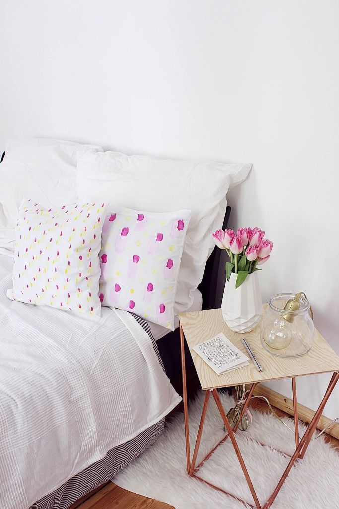 Kissen Bemalen & Verzieren Diy möbel selber bauen, Dekor