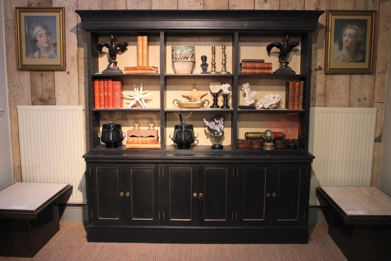 1920s Danish Painted Open Bookcase Open Bookcase Bookcase Adjustable Shelving