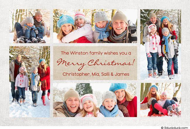 christmas photo collage card ideas