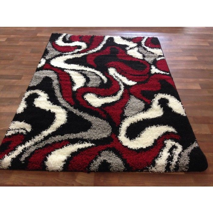 Living Room Outstanding Red And Black Carpet Rugs Vidalondon Area