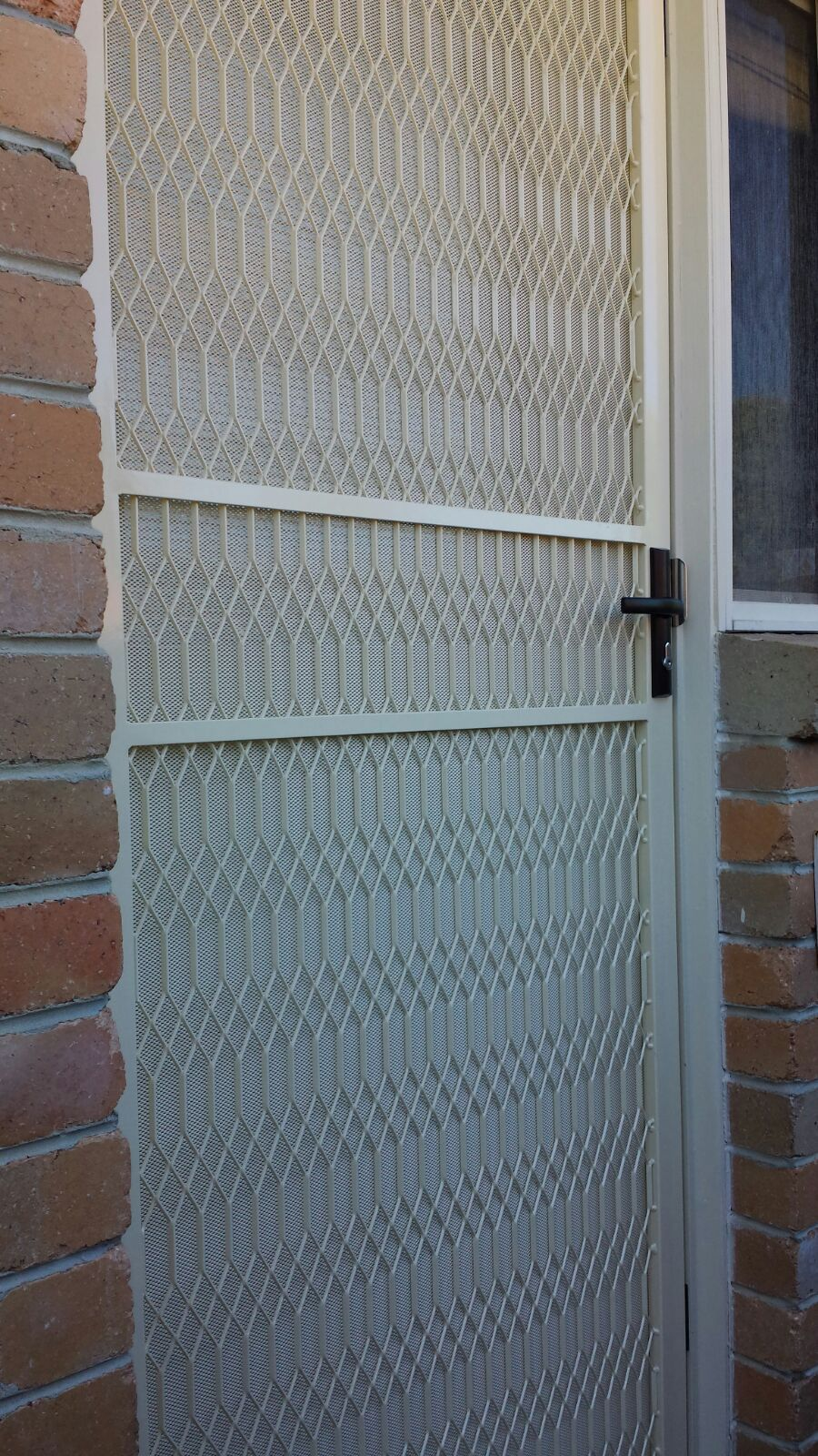 Steel Security Door With One Way Vision Mesh Installed In Cheltenham Steel Doors Steel Doors