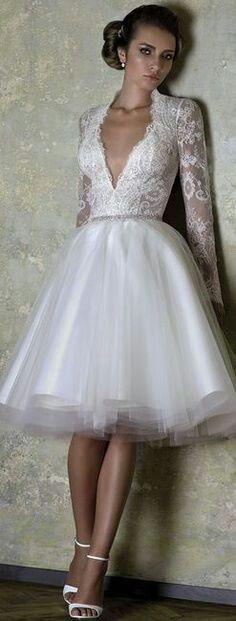 Para segundas nupcias   Mi boda   Pinterest   Vestidos de novia ...