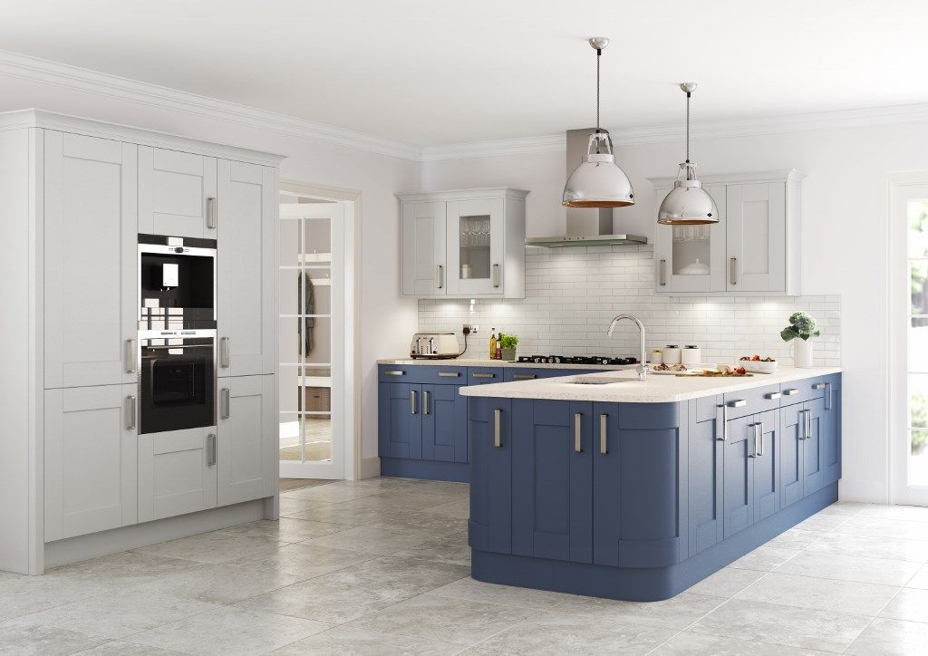 Best Burbidge S Marlow Kitchen Painted In French Grey And Old 400 x 300
