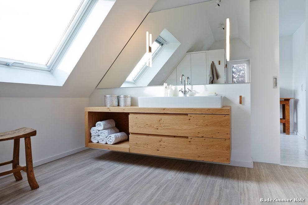 Badezimmer Holz with Modern Badezimmer Łazienka Pinterest
