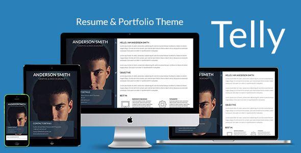 Telly - Responsive Resume  Portfolio Template - Resume / CV