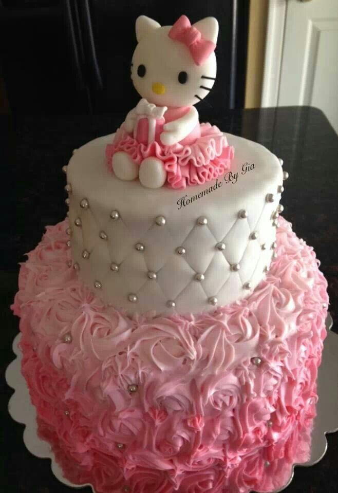 Hello Kitty Birthday Cake Craftcake Decorating Pinterest