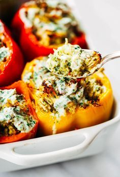 Chicken Ranch Paleo Whole30 Stuffed Peppers Paleo Gluten Free Eats Recipe Whole30 Dinner Recipes Whole 30 Recipes Whole Food Recipes