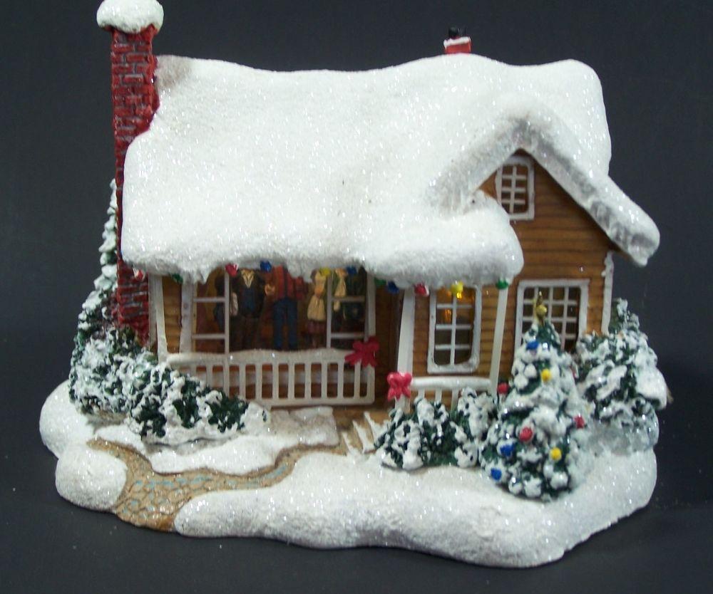 Thomas kinkade o holy night christmas stocking - Thomas Kinkade Childhood Home Lighted Christmas House Limited Series Teleflora