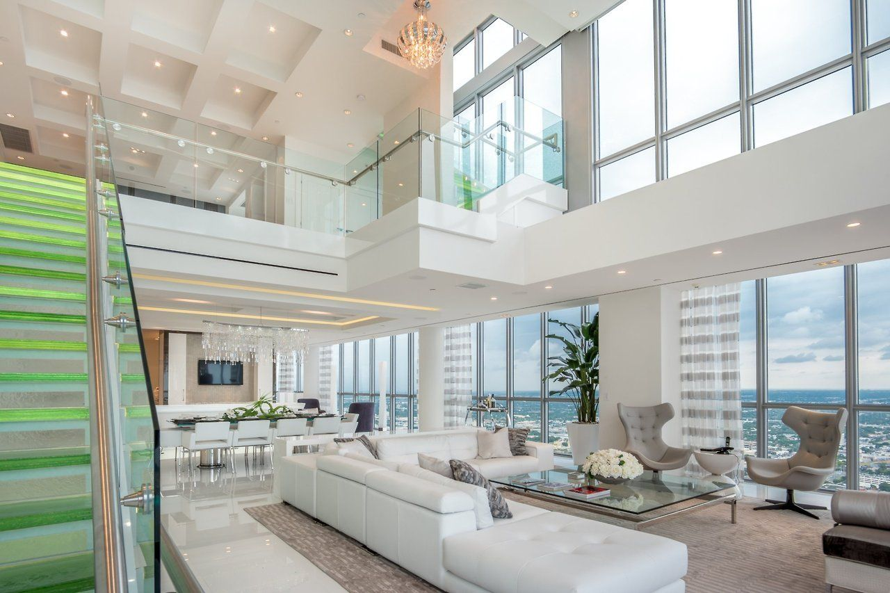 Home Interior Design — Miami penthouse with very tall ceiling [OC ...