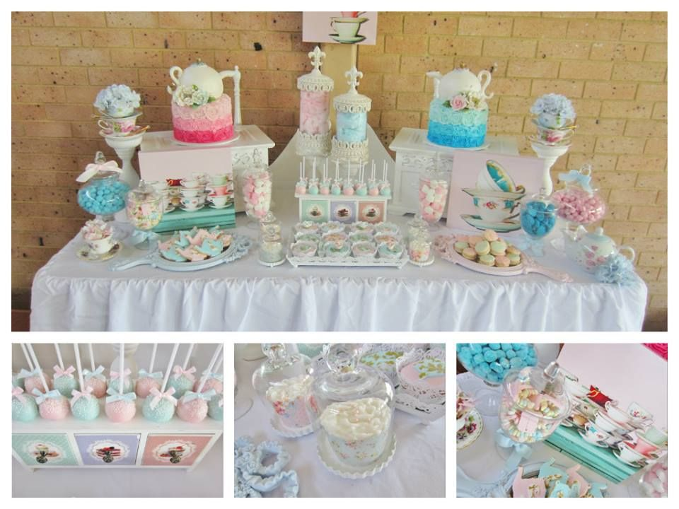 High tea baby shower decorations