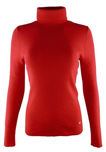 Lauren Ralph Lauren Womens Ribbed Turtleneck Sweater L Madison Red ...
