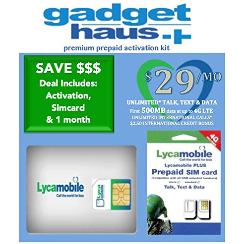 Lycamobile Preloaded Triple Cut 3 in 1 Sim Card includes