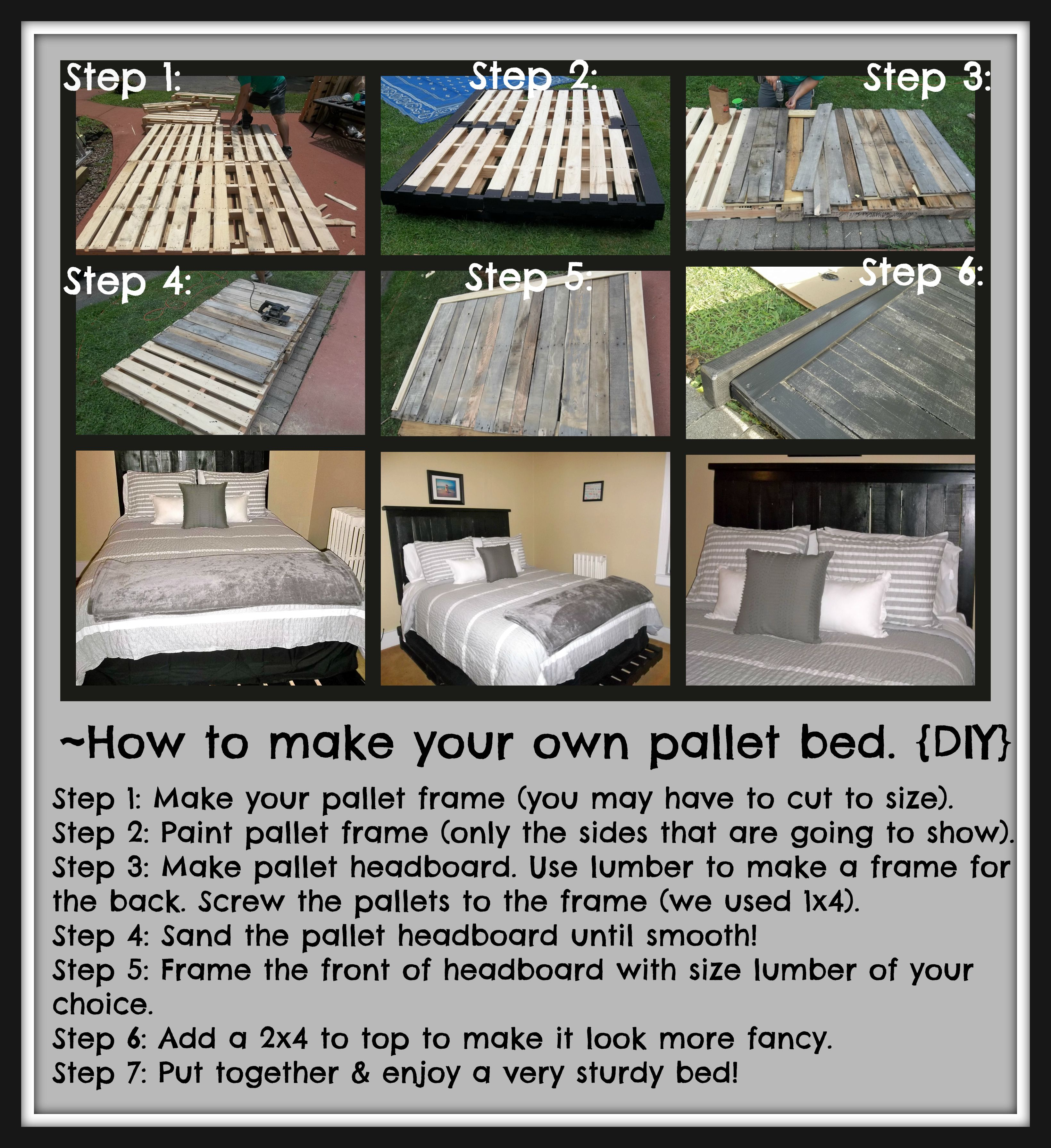 How to make your very own pallet bed diy craft well for How do you make a pallet bed