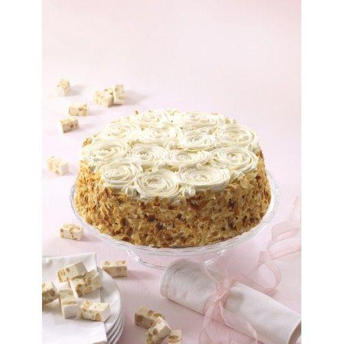 Gâteau Fleurs de Nougat pâtisserie La Romainville  crème de nougat et  génoise nature. Gateau