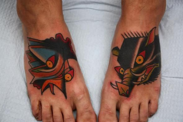 Pig rooster tattoo tattoo old school pinterest for Pig and rooster tattoo meaning