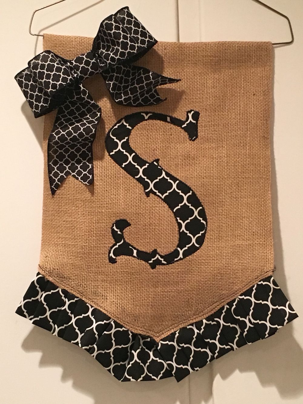 Diy Initial Burlap Garden Flag My Completed Pinterest Projects