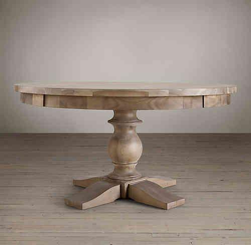 Mesa redonda pata torneada buscar con google ideas - Patas para mesas redondas ...