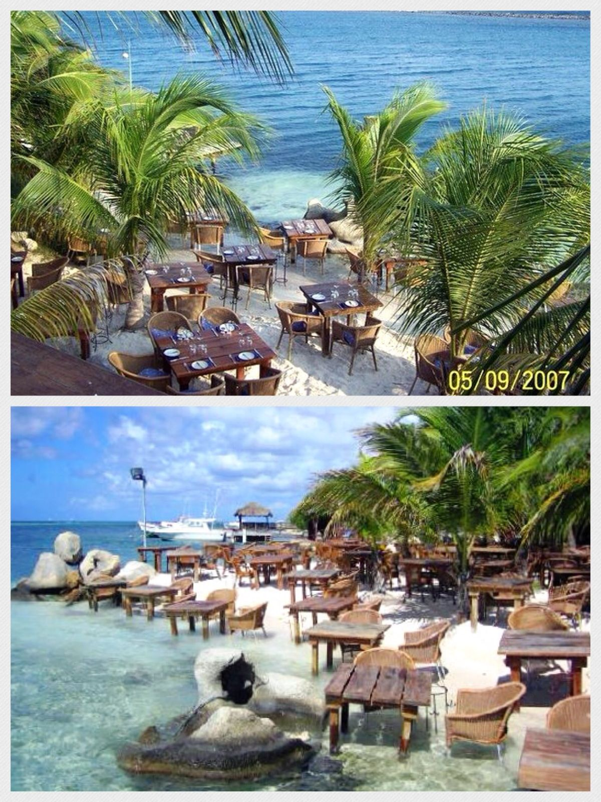 Aruba The Flying Fishbone Seaside Restaurant Dinner With Your Feet In Ocean Amazing